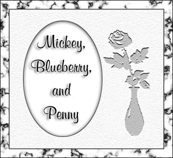 Memorial for Mickey, Blueberry, and Penny